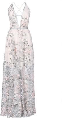 True Decadence Light Sage Embroidery Maxi Dress