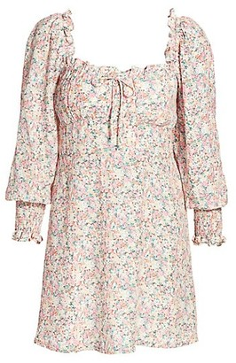 Faithfull The Brand Ira Floral Mini Dress