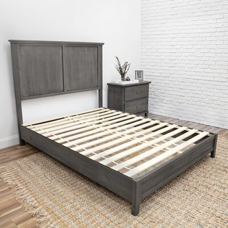 Roxy Charlton Home Pine Platform Bed Charlton Home Color: Slate Gray, Size: King