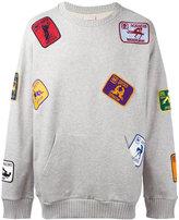 Palm Angels multi patched sweatshirt - men - Cotton - S