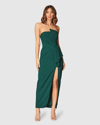 Pilgrim Women's Green Off the Shoulder Dresses - Laylan Gown - Size One Size, 16 at The Iconic