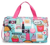 Capelli of New York Girl's Capelli Camera Print Duffel Bag - Blue/green