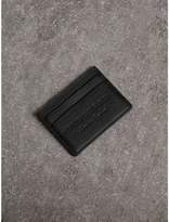 Burberry Embossed Textured Leather Card Case