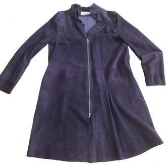 Marni Purple Suede Coat for Women