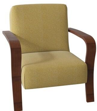 Hekman Mallory Armchair Body Fabric: 1030-782, Leg Color: Canterbury