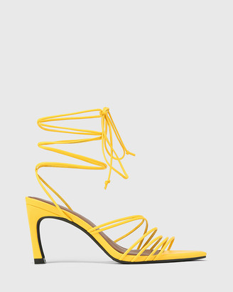 Wittner - Women's Yellow Sandals - Raelynn Leather Strappy Sandals - Size One Size, 37 at The Iconic