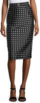 Ralph Lauren Carlton Polka-Dot Pencil Skirt