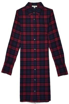Alex Mill Standard Plaid Midi Shirt Dress in Navy/Red