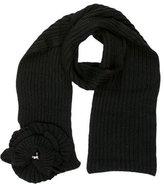 Sonia Rykiel Floral Rib Knit Scarf