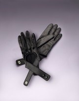 Agent Provocateur Cross Strap Leather Glove Black