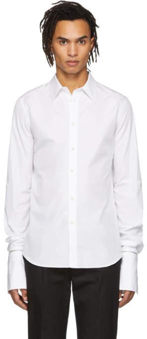 Alexander McQueen White Zip Cuff Shirt