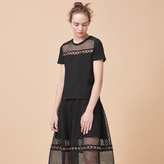 Maje Embroidered cotton T-shirt