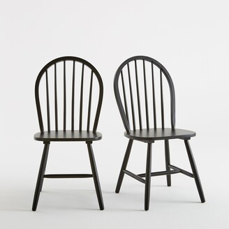 La Redoute Interieurs WINDSOR Solid Beech Chairs (Set of 2)