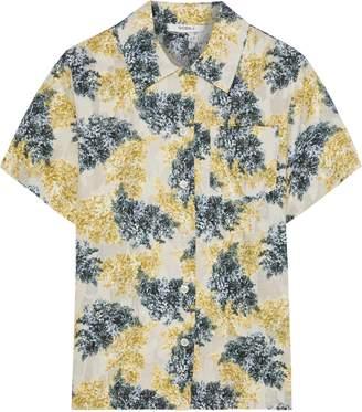 GOEN.J Floral-print Fil Coupe Cotton Shirt