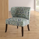 Zhora Wingback Chair Darby Home Co Upholstery Color: Blue / Green