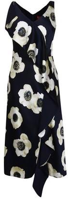 HUGO BOSS Floral Printed Sleeveless Dress