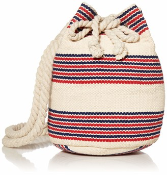 Seafolly Women's Stripe Bucket Bag with Long Braided Shoulder Strap