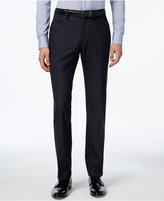 Kenneth Cole Reaction Men's Blue Checked Slim-Fit Dress Pants