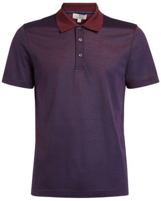 Canali Contrast-Collar Polo Shirt