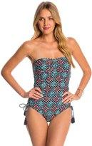 Michael Kors Swimwear Nui Side Inset One Piece Swimsuit 8142789