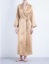 Marjolaine Baccarat silk-satin long robe