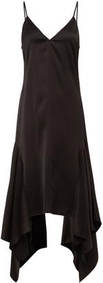 J.W.Anderson Asymmetric Satin Slip Dress