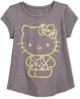 Hello Kitty Glitter Graphic-Print T-Shirt, Little Girls (2-6X) & Toddler Girls (2T-5T)