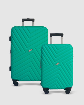 Jett Black Emerald Maze Short Stay Luggage Set