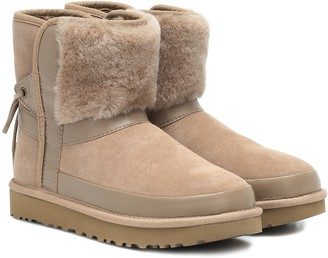 UGG Classic Bow shearling suede boots