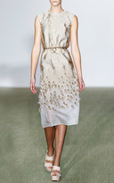 Giambattista Valli Gold Stramato Tube Dress