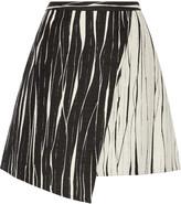 Raoul Cassia asymmetric wrap-effect jacquard skirt