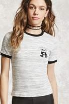 Forever 21 I Slay All Day Panda Ringer Tee