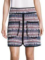 See by Chloe Patch Pocket Tweed Skirt