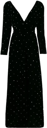 Forte Forte Glitter-Embellished Velvet Dress
