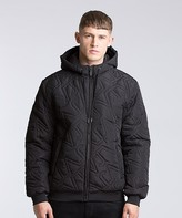 Versace Quilted Hooded Bomber Jacket