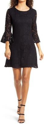Lulus Fave Flair Lace Bell Sleeve Minidress