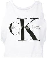 Calvin Klein Jeans logo print tank top - women - Cotton - XS