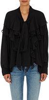 Faith Connexion Women's Laval Silk Tie-Neck Blouse