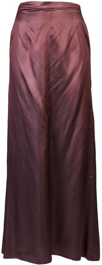 Chanel Iridescent silk skirt