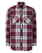 Berry CheckLong Sleeve Shirt With Pocket