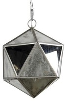 A&B Home Short Glass Panel Pendant Lamp - Clear