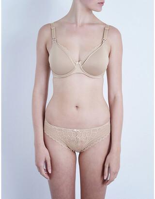 Chantelle Black Merci Jersey And Lace Maternity Bra, Size: 32C