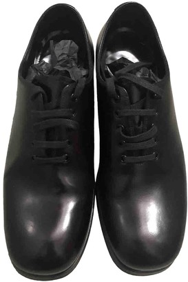Prada Black Leather Lace ups
