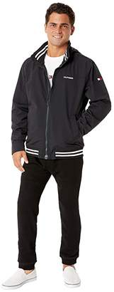 Tommy Hilfiger Adaptive Regatta Jacket with Magnetic Zipper (Deep Knit Black) Men's Coat