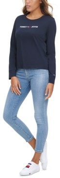 Tommy Jeans Linear Logo Long-Sleeve T-Shirt