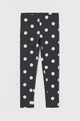H&M Leggings with Brushed Inside - Gray