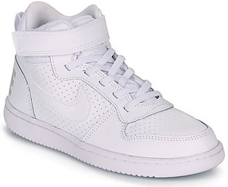 Nike COURT BOROUGH MID PRE-SCHOOL girls's Shoes (High-top Trainers) in White