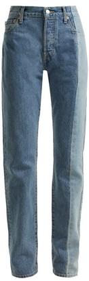 Vetements X Levi's Reworked Straight-leg Jeans - Womens - Denim