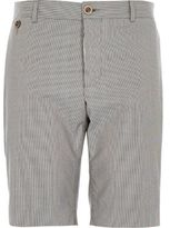 River Island MensNavy smart tailored houndstooth print shorts