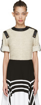 Loewe Ivory Leather-trimmed Top
